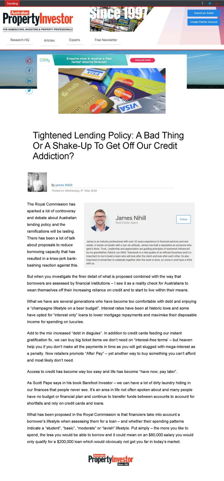 Tightened Lending Policy - A Bad Thing Or A Shake-Up To Get Off Our Credit Addiction.jpg